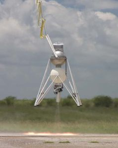 Armadillo Aerospace's Module in tethered hover testing