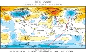 World Temperatures December 2008
