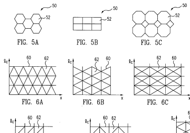 Fiber reinforcement grid geometries for an airplane fuselage