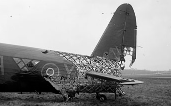 Vickers Wellington with some skin shot off